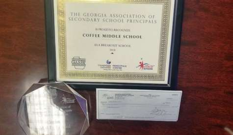 CMS named Breakout Middle School and Distinguished Middle School