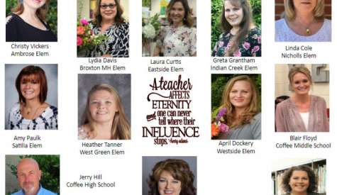 School system names teachers of the year