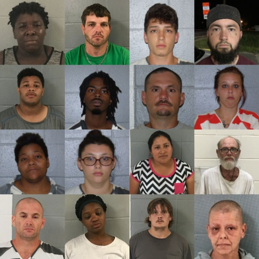Alma PD announce last week's arrests, charges ranging from