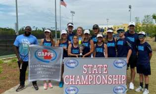 CCA Lady Patriots win state tennis championship, men's team advances to Final Four
